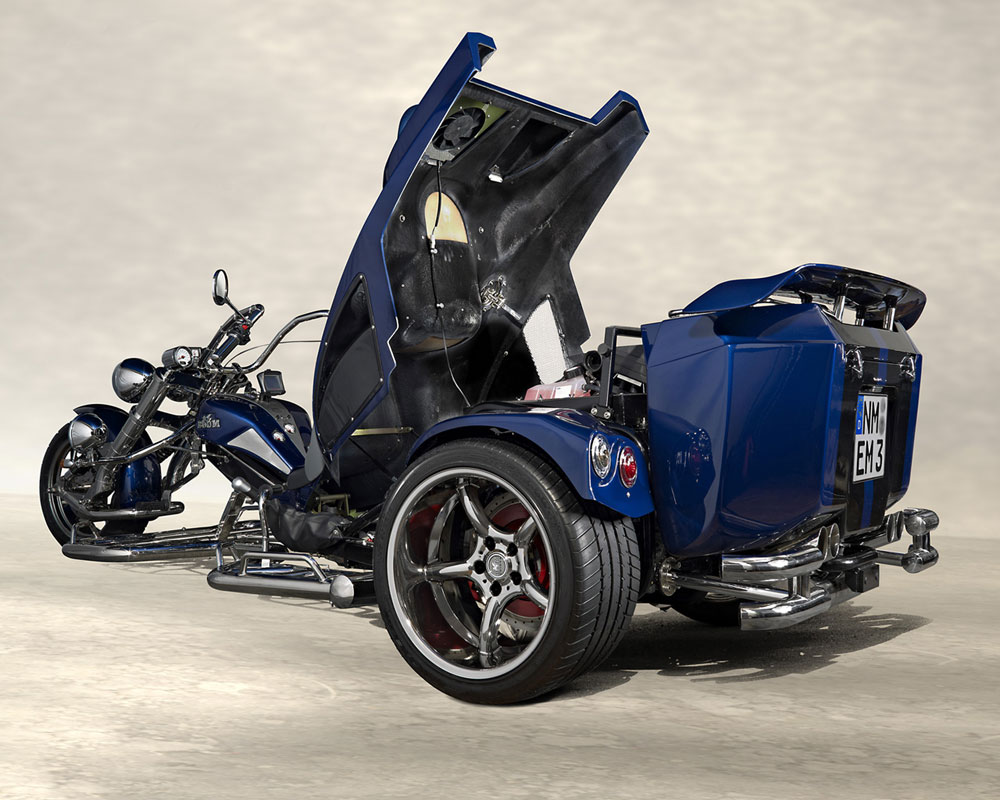 Mustang trike ouvert arrière bleu