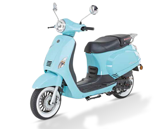 Kreidler Flory Classic 50cc bleu face latérale