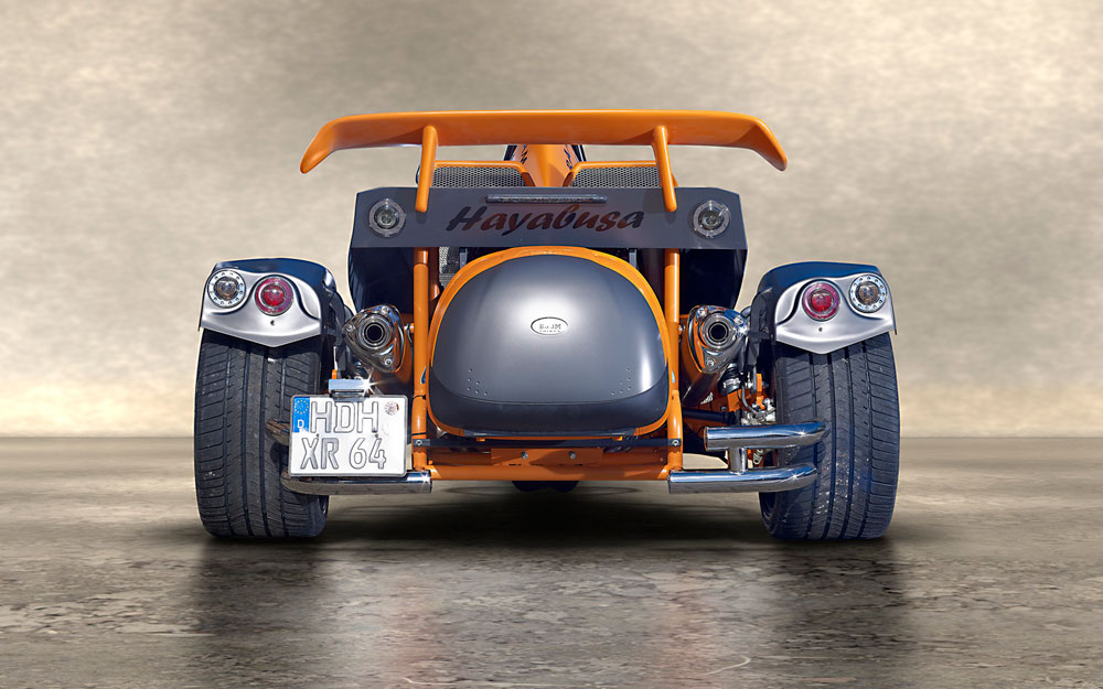 Hayabusa arrière noir orange