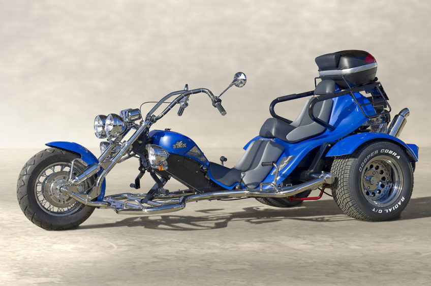 Trike Low Rider thunderbird bleu