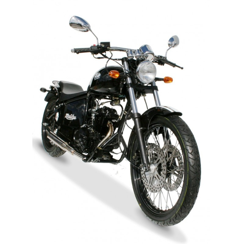 Malibu 125cc noir face