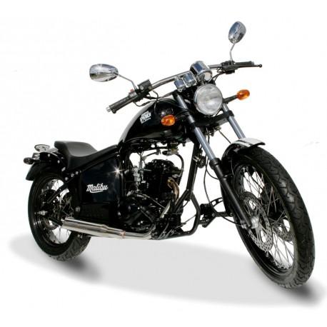 Malibu 125cc noir face latéral