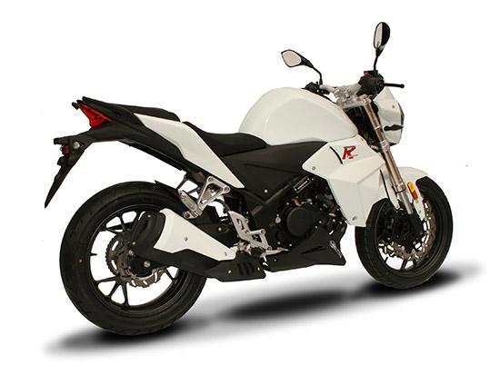 R stunt blanc 250cc latéral