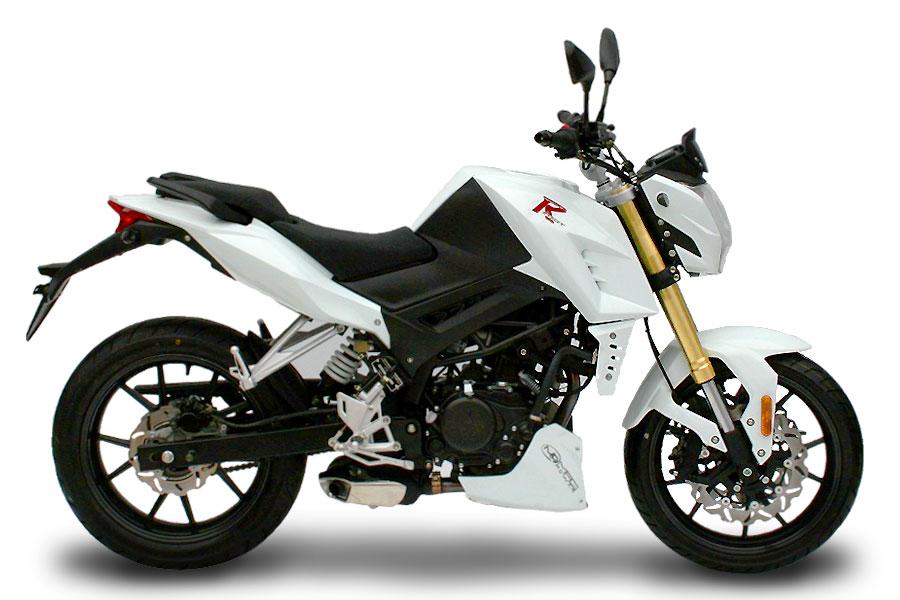 Moto RStreet 125cc blanc