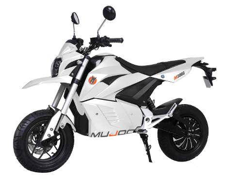 Moto électrique mujoo m300 blanche