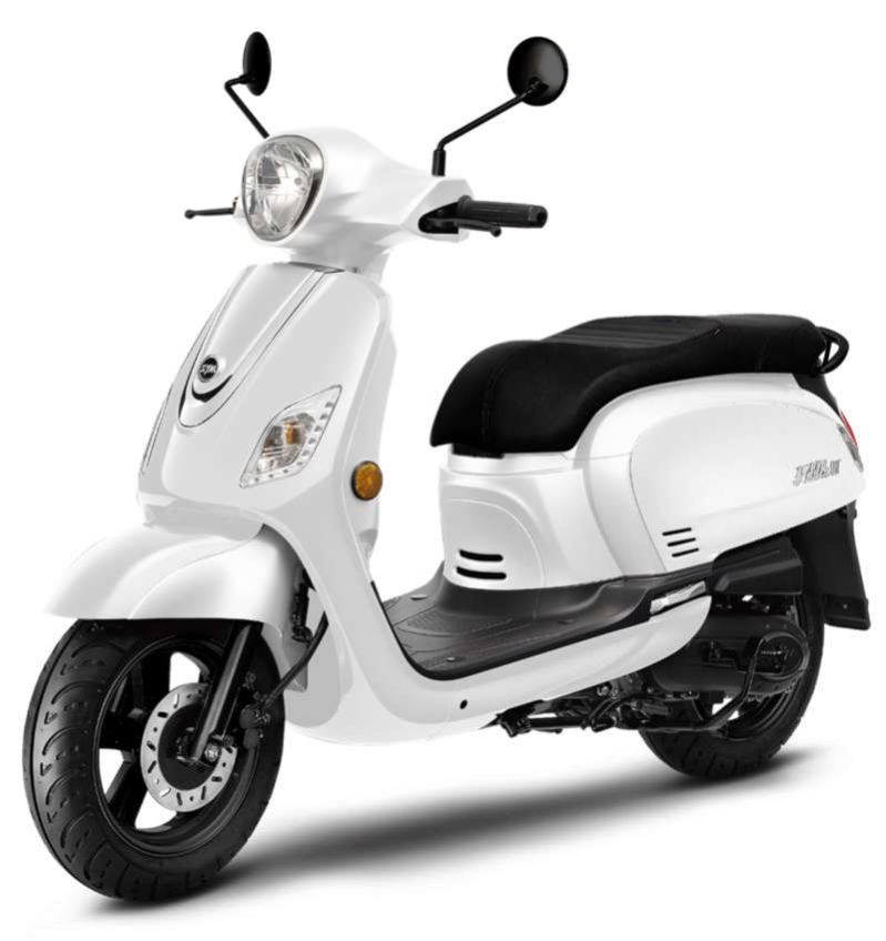 SYM FIDDLE 125 blanc rétro