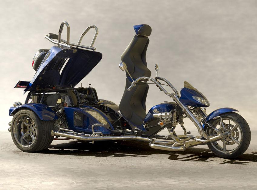 Fighter X11 ouverture arrière bleu ultime