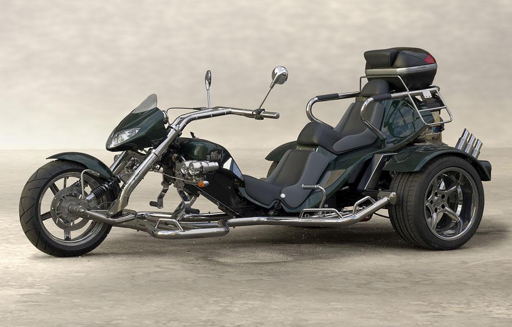 Trike Low Rider vert côté