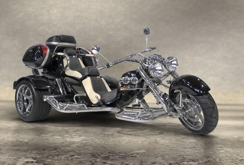 Trike low rider 2 places noir latérale