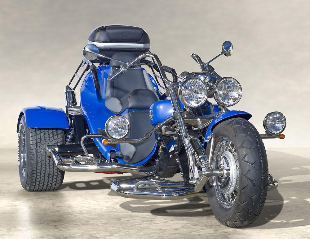 Trike Low Rider bleu face
