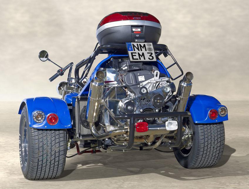 Trike Low riderdos bleu arrière