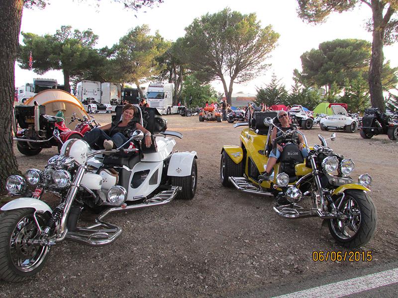 Trike blanc jaune Paul Ricard Castellet