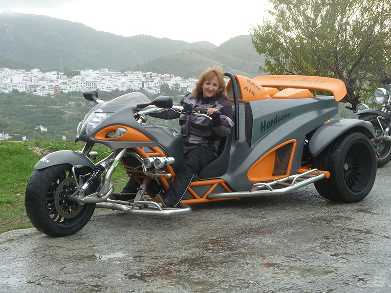 Trike gris orange