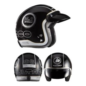 Bultaco casque jet noir blanc