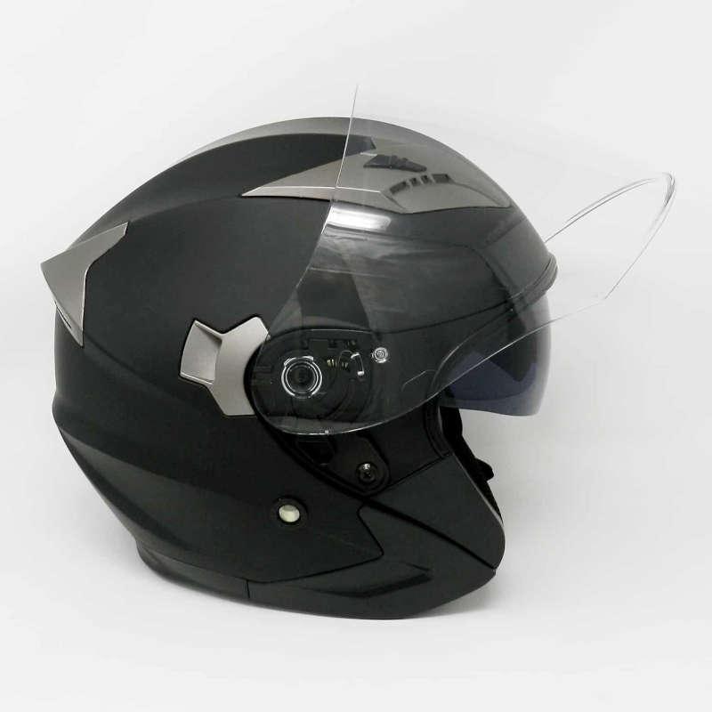 casque jet noir matt