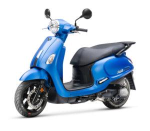 sym scooter fiddle IV E5 bleu