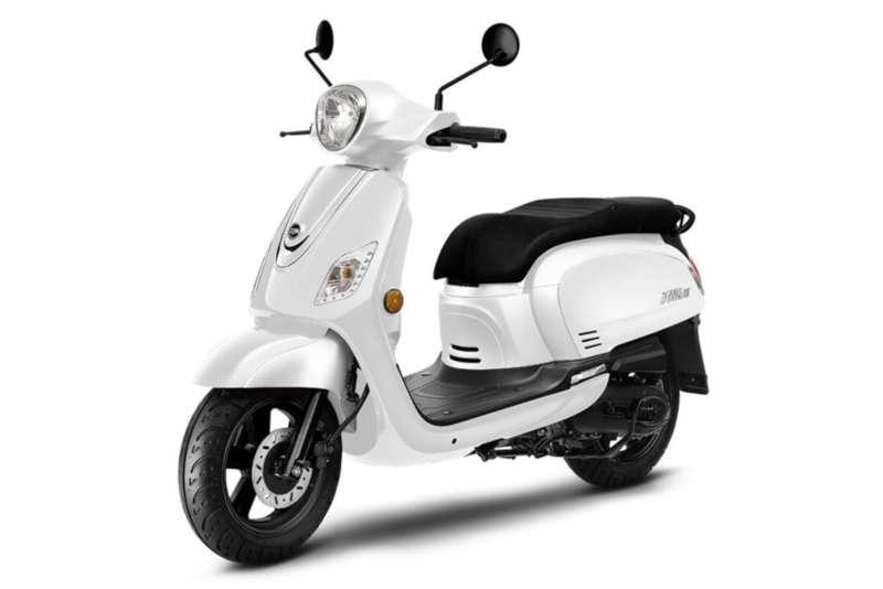 scooter sym 50 blanc