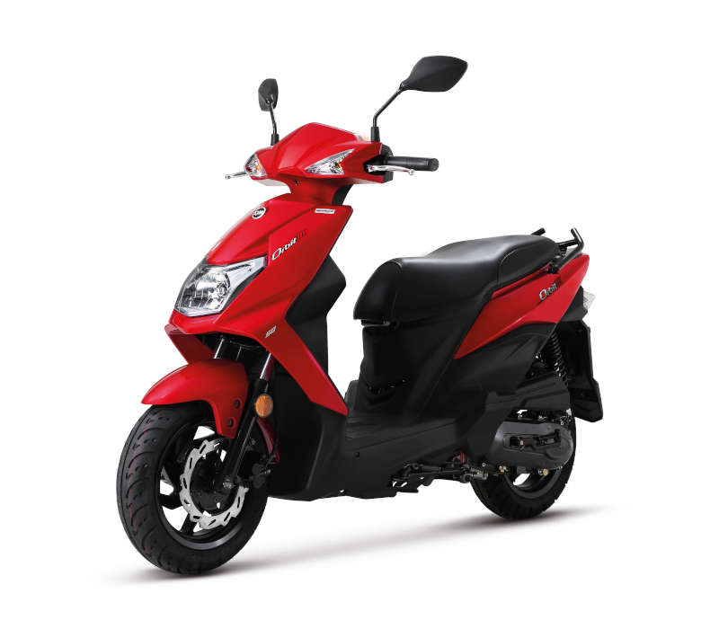 Scooter 50 sym rouge design