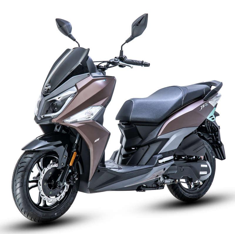 scooter jet 14 50 sym marron