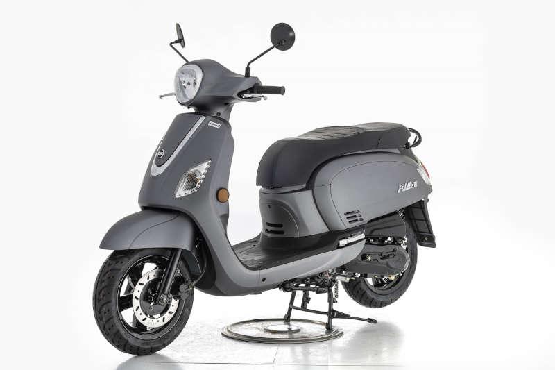 sym scooter 50 gris retro fiddle