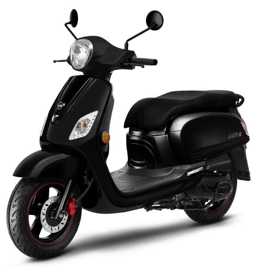 Scooter 125 noir mat