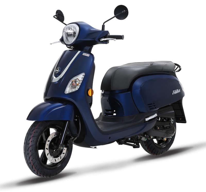 scooter style vespa bleu