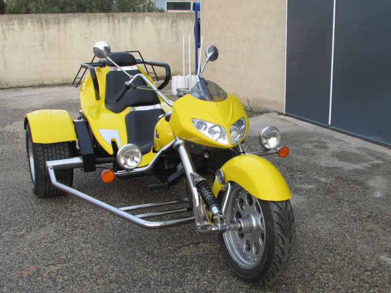 trike boom chopper jaune