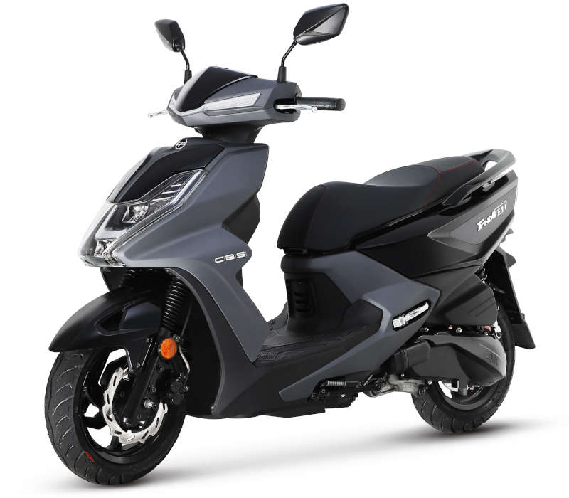 scooter sym 125 noir fnx
