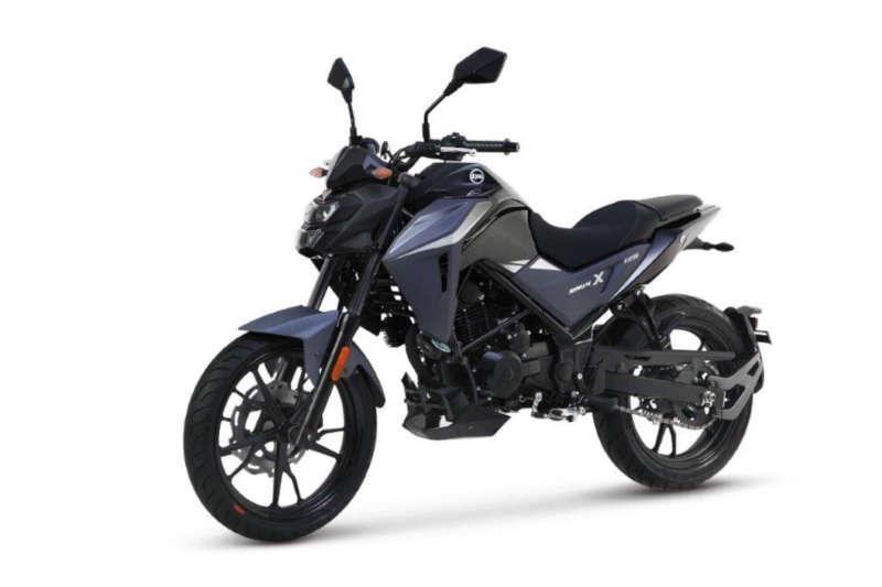 moto sym 125 noir gris