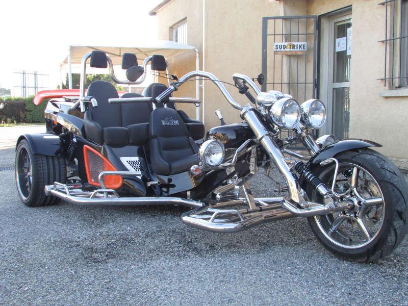 trike bi-couleur noir orange