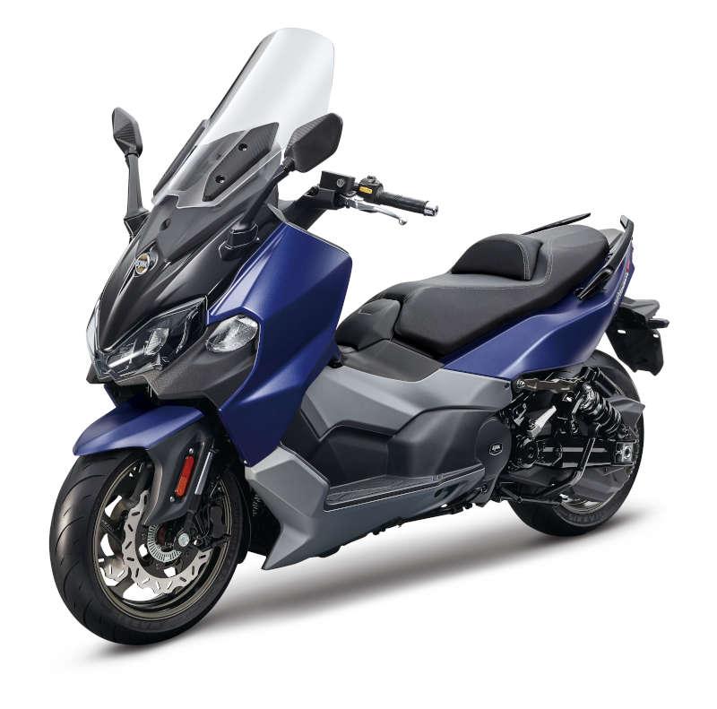 scooter 500 bleu mat